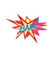 bang lettering comic sound speech effect bubble vector image