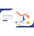 bankruptcy flat tiny person vector image