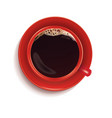 black coffee in red cup isolated on white 3d vector image vector image