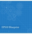Blueprint with Drawn Gears vector image