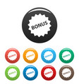 bonus sign icons set vector image vector image