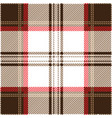 brown and red tartan plaid seamless pattern vector image vector image