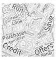 business credit card for Word Cloud Concept vector image vector image