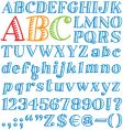 cartoon font vector image vector image