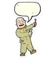 cartoon mechanic with speech bubble vector image