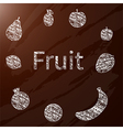 chalk fruit vector image vector image