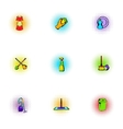 Cleansing icons set pop-art style vector image vector image
