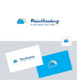 clouds logotype with business card template vector image vector image