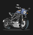 cool biker sport bike editable layers vector image