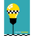 Creative Diving vector image vector image