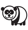 Cute animal panda vector image
