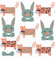 cute cats seamless pattern it is located in vector image vector image