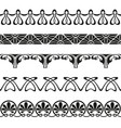 decorative art nouveau seamless borders vintage vector image vector image