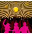 Disco Backgrounds 03 vector image vector image