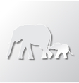 Elephants Mom and Son Care vector image