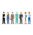 employee and workers characters standing together vector image vector image