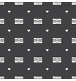 flat hipster black and white cameras seamless vector image vector image