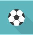 football ball soccer ball icon flat design vector image vector image