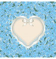 Forget me not heart vector image vector image