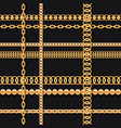 gold chains and beads on black luxury seamless vector image vector image
