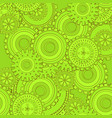 green iron gearwheels technology backdrop vector image