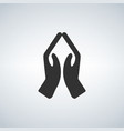 hands praying icon vector image vector image