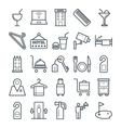 Hotel and Restaurant Cool Icons 3 vector image vector image