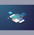 isometric mobile development vector image vector image