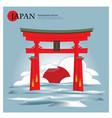 itsukushima shrine japan landmark vector image vector image