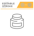 jar editable stroke line icon vector image