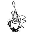 Kayaking man vector image vector image