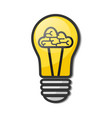 lightbulb with brain - creative sketch draw vector image vector image