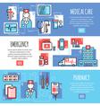 medical horizontal banners vector image