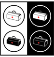 medical suitcase icons vector image vector image