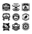 Motor Sport Badges vector image vector image