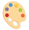 painting palette or color vector image vector image