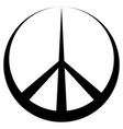 peace symbol pacific conciliatory sign vector image