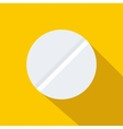 Pill icon flat style vector image