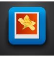 Polaroid photo symbol icon on blue vector image vector image