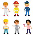 Professional occupations 2 vector image