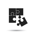 puzzle icon flat puzzle game sign symbol with vector image vector image