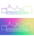 pyeongchang skyline colorful linear style vector image