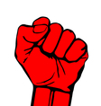 Raised fist icon vector image