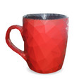 red cup of triangles vector image vector image