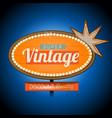retro vintage motel banner sign vector image vector image