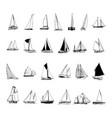 sailboat collection cartoon clipart vector image vector image
