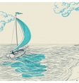 Sailing background vector image vector image