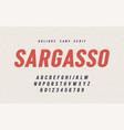 sargasso oblique san serif font alphabet vector image vector image