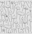 seamless pattern with psilocybin or hallucinogenic vector image