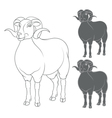 set of depicting sheep vector image